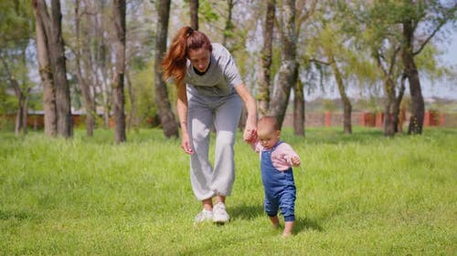 Baby First Step Outdoor Walking
