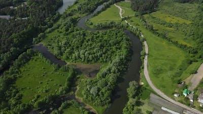 Rural Landscape, River Channels. Dense Forests. Landscape