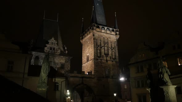Thumbnail for Architecture of Charles bridge over Vltava river in Czech Republic slow tilt   3840X2160 UHD footage