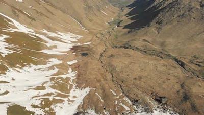 Juta Valley In Kazbegi after winter