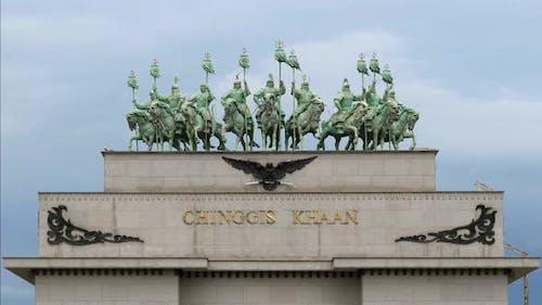 Equestrian Statue of Great Warrior Genghis Khan in Ulaanbaatar Mongolia