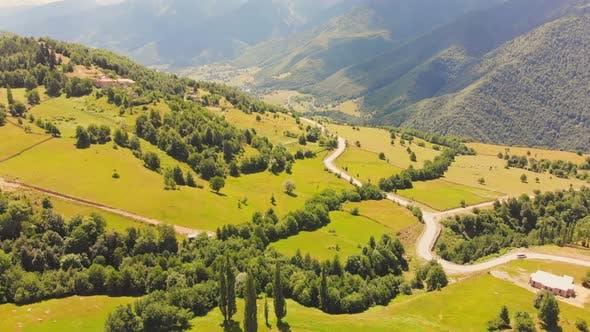 Georgia Countryside Greenery In Svaneti