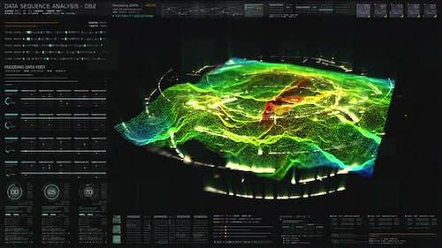 Futuristisches holographisches Terrain Head Up Display 02