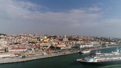 Cruise Ship in Lisbon