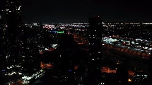 Night aerial Toronto CA
