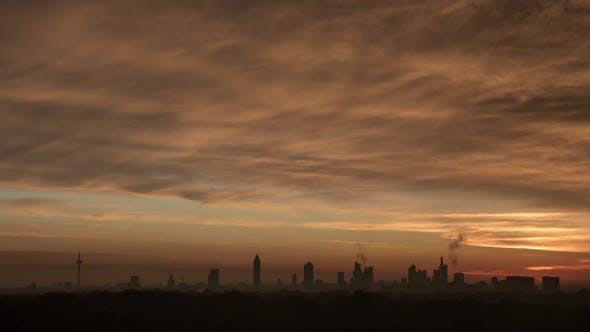 Thumbnail for Timelapse of Sunrise and Clouds Over Frankfurt