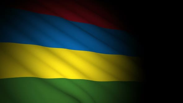Thumbnail for Mauritius Flag Blowing in Wind