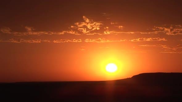 Prairie Western Region Sunrise Morning Orange Sky Clouds Sun Rising