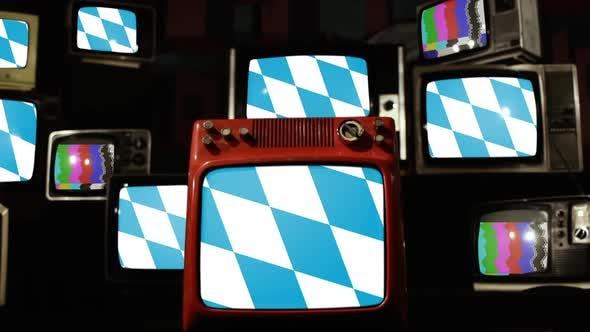 Thumbnail for Flag of Bavaria and Retro TVs.