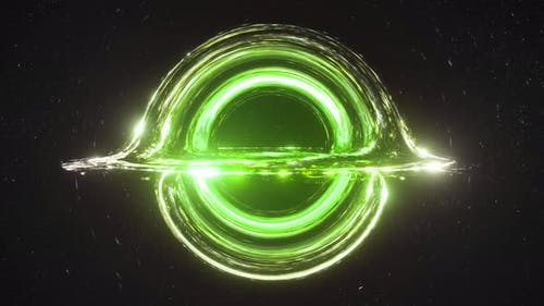 Green Black Hole Simulation Seamless Loop