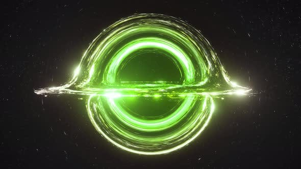Thumbnail for Green Black Hole Simulation Seamless Loop