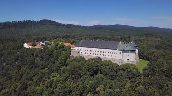 Thumbnail for Aerial View of Cerveny Kamen Castle, Slovakia