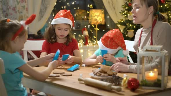 Thumbnail for Family Baking Christmas Cookies.