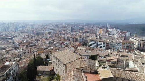 Aerial View Of Girona City