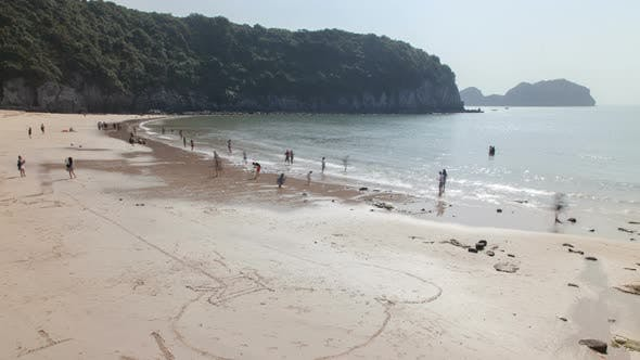 Cat Ba Island Beach, Ha Long Bay, Vietnam Timelapse