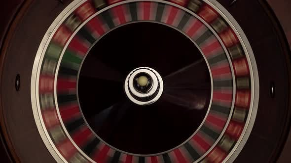 Thumbnail for Croupier Spins the Classic Roulette, Quickly, White Ball