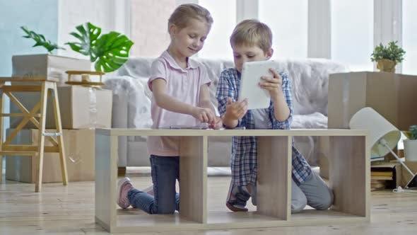 Thumbnail for Little Children Assembling Shelf