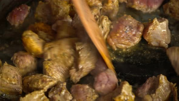 Thumbnail for Cooking Meat On A Frying Pan 3