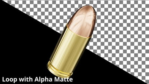 Floating 9mm Bullet on Black