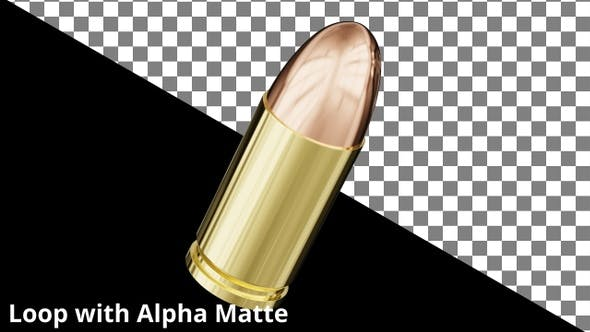 Cover Image for Floating 9mm Bullet on Black