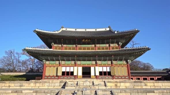 Beautiful gyeongbokgung palace in Seoul South Korea