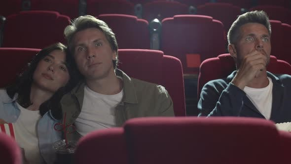 Thumbnail for Few People Watching Interesting Film in Cinema