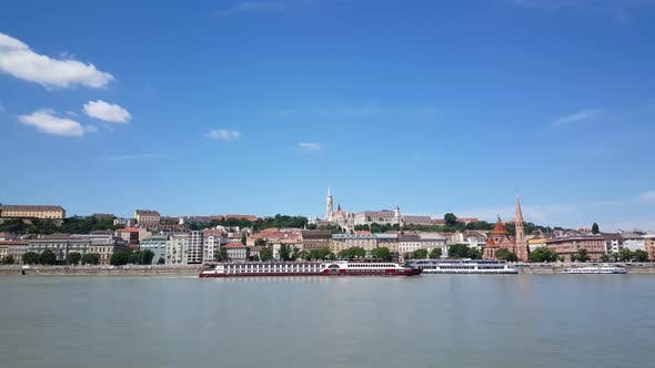 View from Pest to Buda in Budapest Hungary