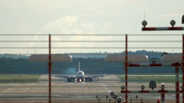 Passenger Plane Arrived at the Airport