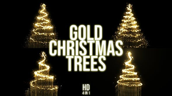 Thumbnail for Gold Christmas Tree