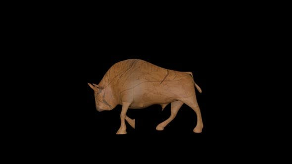 Thumbnail for Old Wood Bull Walk Transparent Alpha Loop