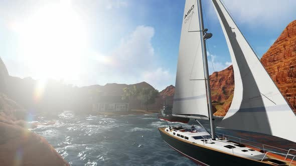 Thumbnail for Sail between the grand canyon during the day