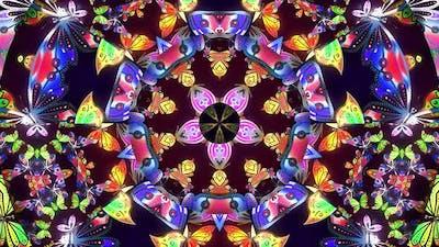 Colorful Butterfly Kaleidoscope