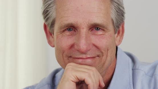 Thumbnail for Senior man smiling closeup