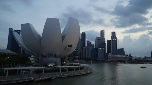 Zeitraffer des Gebäudes in Singapur-Stadt