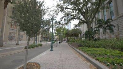 Sidewalk of a street