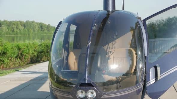 Blue Helicopter Cockpit