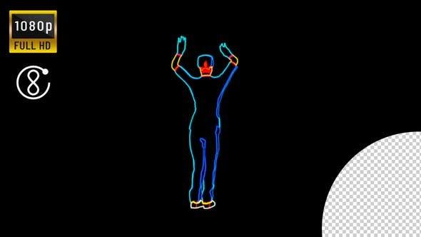 Neon Nurse Dance Loop