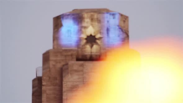 Cover Image for Eternal Flame at National Flag Memorial located at Rosario, Argentina.