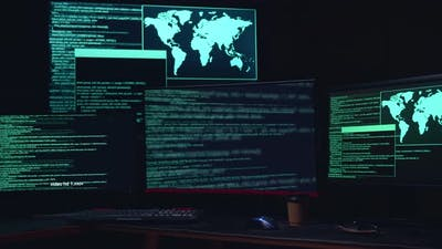Code On Multiple Computer Screens