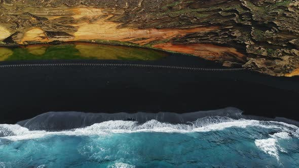 Thumbnail for Multicolored Natural Landscape with Bird's Eye View Lanzarote