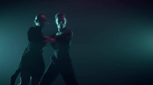 Beautiful Couple Dancing Latin Program