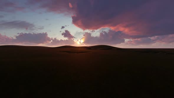 Early Morning in a Steppe