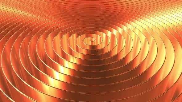 Rotating Shiny Copper Coil