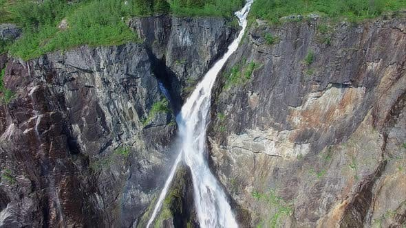 Thumbnail for Voringfossen waterfall in Norway, popular tourist attraction.