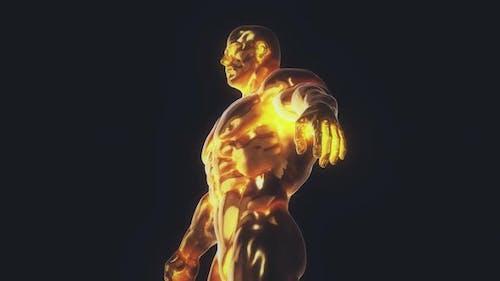 Golden Bodybuilding Trophy 4k