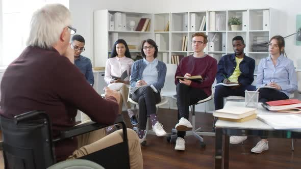 Thumbnail for Multiethnic Students Listening to University Professor