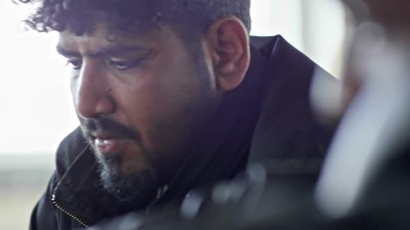 Thumbnail for Sad Arab Man with Beard