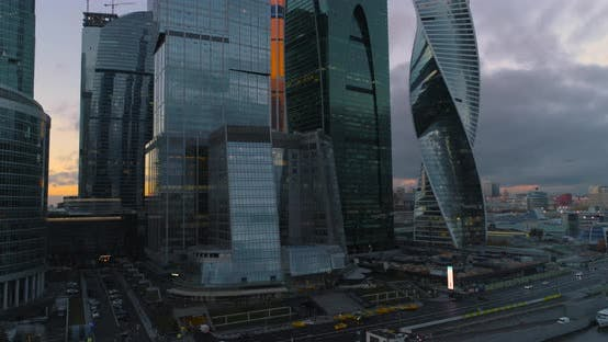 Thumbnail for Business Center Moscow City. Aerial