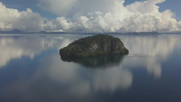 Scenic tiny island