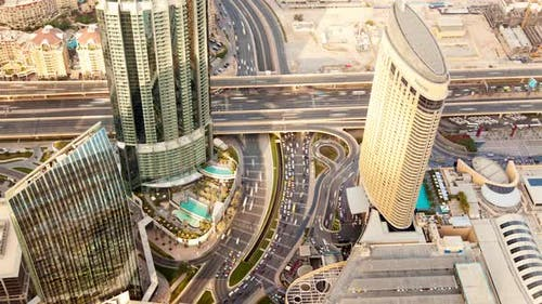 Dubai Skyline Traffic Time-lapse